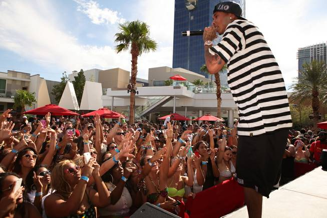 Tyga at Ditch Saturdays at Palms Pool on Saturday, Aug. ...