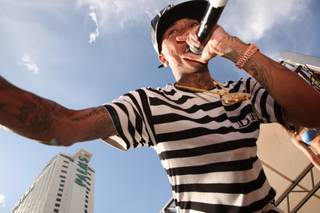 Tyga at Ditch Saturdays at Palms Pool on Saturday, Aug. 3, 2013.