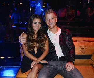 Catherine Giudici and Sean Lowe at 1OAK in the Mirage on Friday, Aug. 2, 2013.