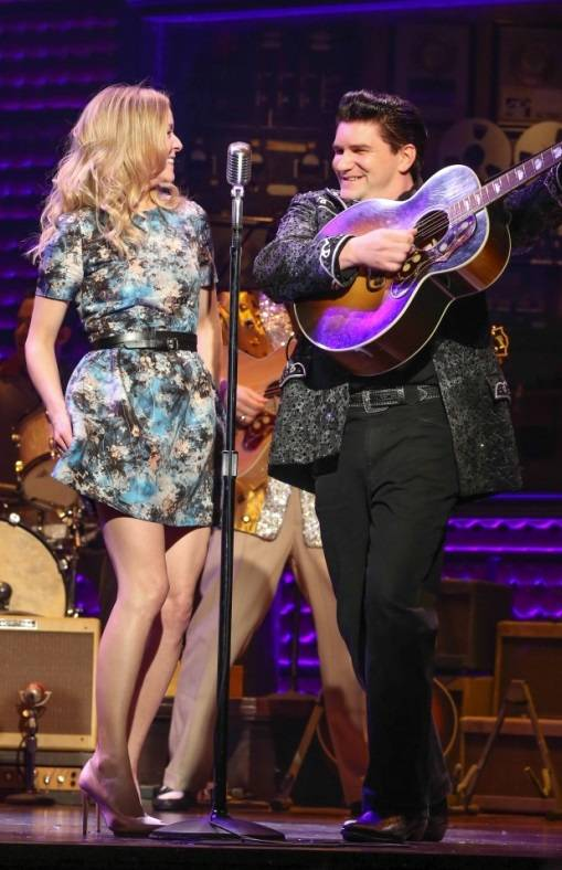 "Bally's headliner Veronic DiCaire performs with Ben Hale (""Johnny Cash"") of ""Million Dollar Quartet"" for one night, Monday, Aug. 5, 2013, at Harrah's."