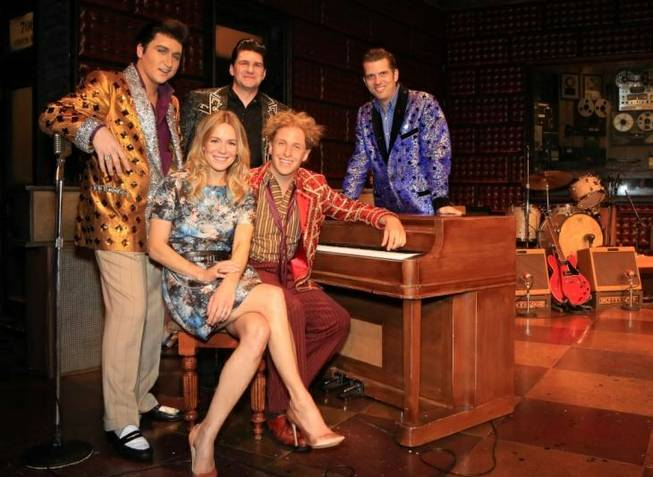 "Bally's headliner Veronic DiCaire performs with the stars of ""Million Dollar Quartet"" for one night, Monday, Aug. 5, 2013, at Harrah's."