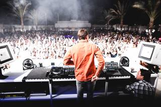 Zedd spins at Eclipse at Daylight Beach Club in Mandalay Bay on Wednesday, Aug. 7, 2013.