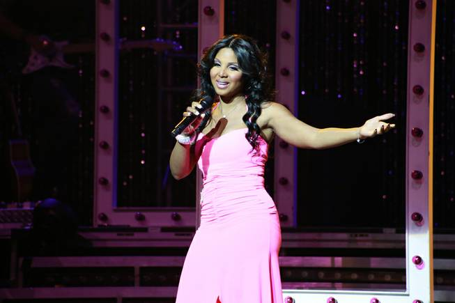 Toni Braxton performs at Pearl at the Palms on Friday, ...