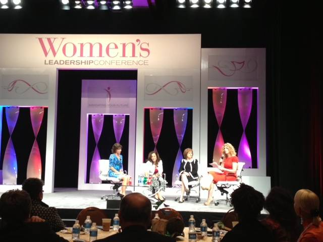 Cindy Kiser-Murphey, president and chief operating officer of New York-New York; Kathleen Ciarmello, president of Coca Cola's North American brands; Carol Evans, president of Working Mother magazine; and moderator Gail Becker, chairwoman of Edelman Communications, talk during the President's Panel of MGM Resorts International's 7th Annual Women's Leadership Conference.