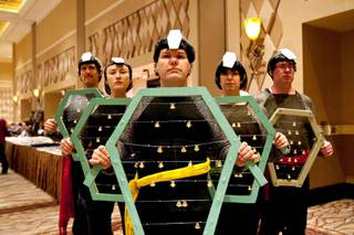 A Vulcan Wedding Band is seen attending the Official Star Trek Convention at the Rio in Las Vegas on Saturday, Aug. 10, 2013.