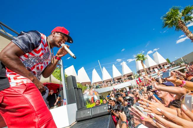 Ne-Yo performs at Ditch Fridays at Palms Pool on Friday, ...