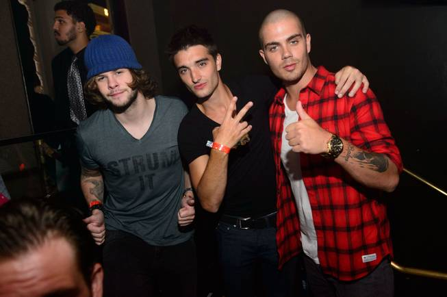 Jay McGuiness, Tom Parker and Max George of The Wanted ...