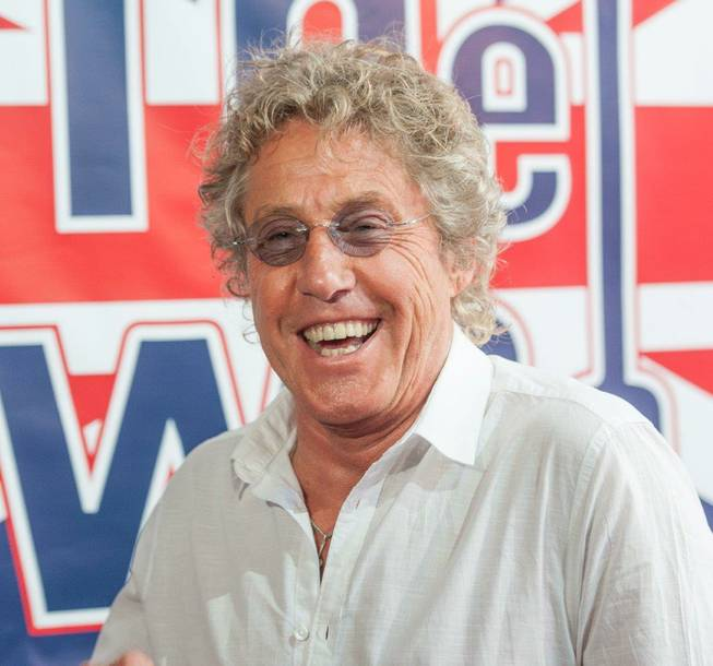 Roger Daltrey of The Who at Fremont Street Experience in downtown Las Vegas on Monday, Aug. 12, 2013.