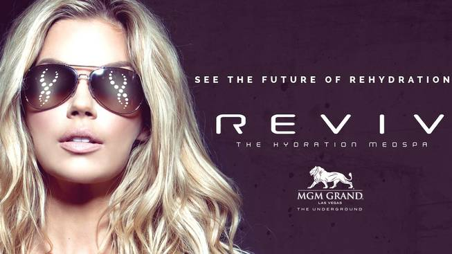 Jessa Hinton is Reviv at MGM Grand's spokesmodel.