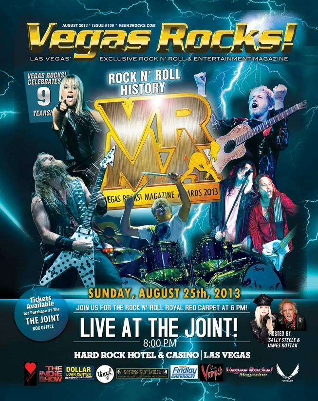 The 2013 Vegas Rocks! Magazine Awards poster.