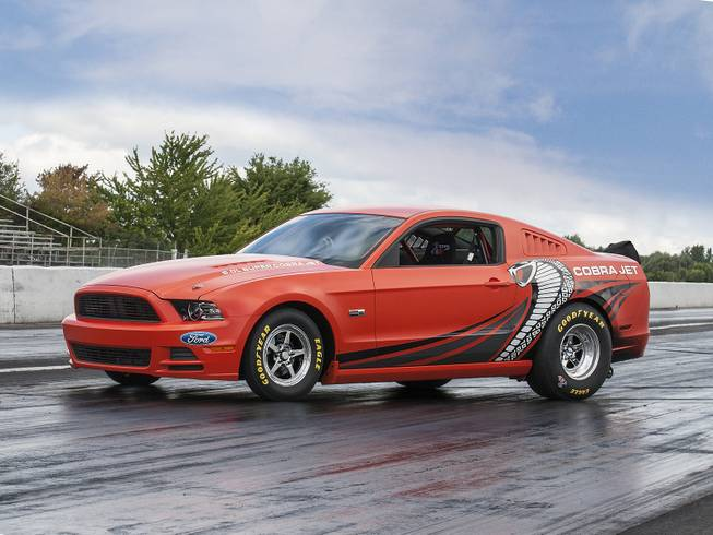 This 2014 Mustang Cobra Jet was among hundreds of vehicles scheduled to go on the block during the Barrett-Jackson Las Vegas auction beginning Thursday, Sept. 26, 2013, at Mandalay Bay.