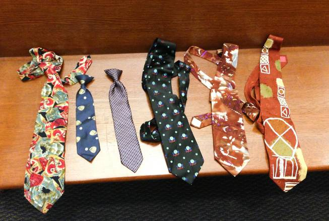 Judge Conrad Hafen keeps ties on hand for attorneys to wear if they don't wear a tie to court.
