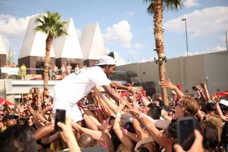 A$AP Rocky at Ditch Fridays at Palms Pool on Friday, Aug. 16, 2013.