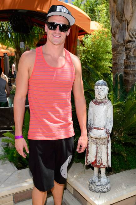 Ryan Lochte at Tao Beach in the Venetian on Friday, ...