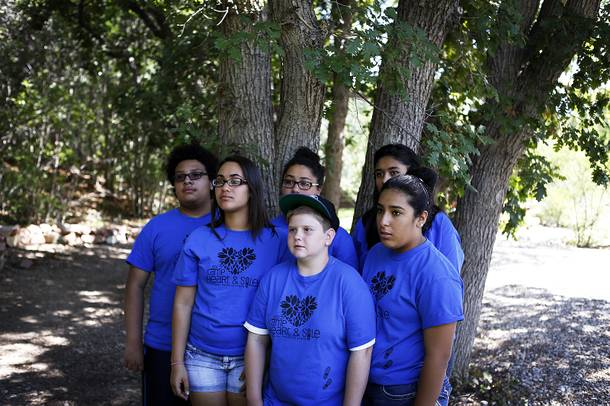 Campers film a public service announcement about bullying at Camp Heart and Sole at Torino Ranch in Lovell Canyon on Saturday, August 17, 2013.