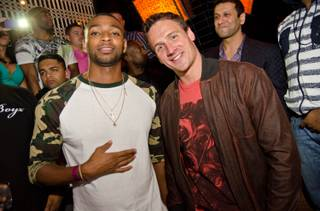 Cullen Jones and Ryan Lochte at Lavo in Palazzo on Friday, Aug. 16, 2013.