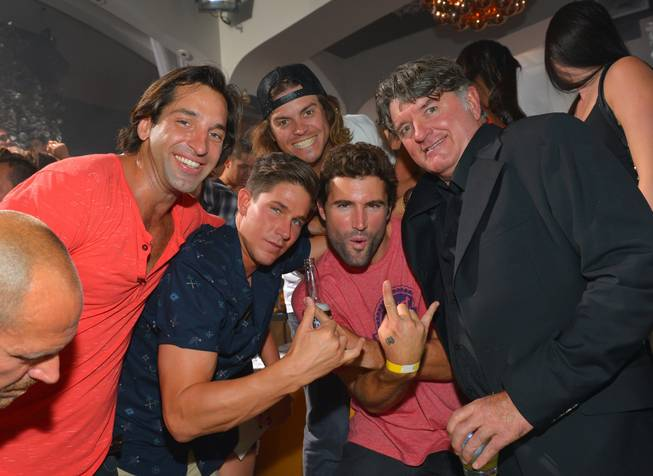 Brody Jenner, second from right, celebrates his 30th birthday at ...