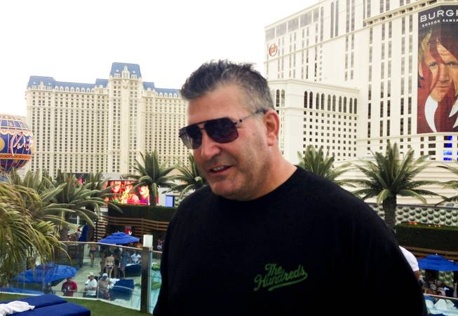 Don Johnson, CEO of Heritage Development, a Wyoming-based company that uses computer-assisted wagering programs for horse racing, at a pool party at Cosmopolitan's Boulevard Pool on Sunday, Aug. 18, 2013. Johnson's blackjack winnings include more than $15 million at three Atlantic City casinos in 2011.