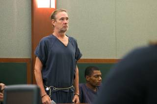 Jonas Maxwell appears before Judge Eric Goodman at the Regional Justice Center on Monday, Aug. 19, 2013.