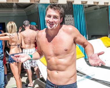 Ryan Lochte hosts at Azure Luxury Pool in the Palazzo on Saturday, Aug. 17, 2013.