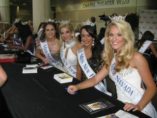2013 Miss Nevada Diana Sweeney, right, in Orlando, Fla.