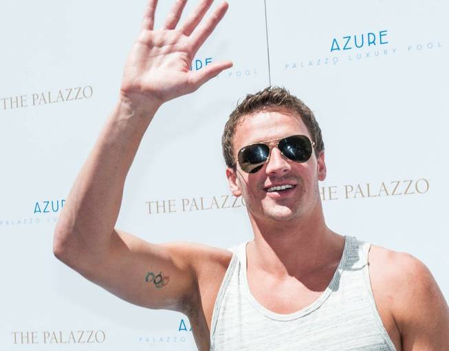 Ryan Lochte hosts at Azure Luxury Pool in the Palazzo ...