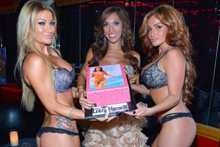 """Teen Mom"" star Farrah Abraham hosts and parties at Crazy Horse III Gentlemen's Club on Tuesday, Aug. 20, 2013, in Las Vegas."