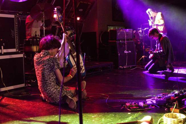 Deerhunter during their performance at the Hard Rock Cafe on the Strip, Thursday, Aug. 22, 2013.