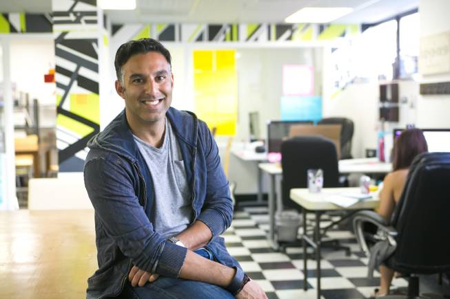 "Rehan Choudhry, Chief Executive Officer of Aurelian Marketing Group, in the ""Life Is Beautiful"" offices, downtown Las Vegas, Thursday, Aug. 22, 2013."