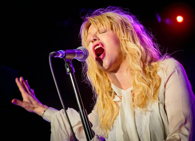 Courtney Love performs for Vinyl's first anniversary in the Hard ...