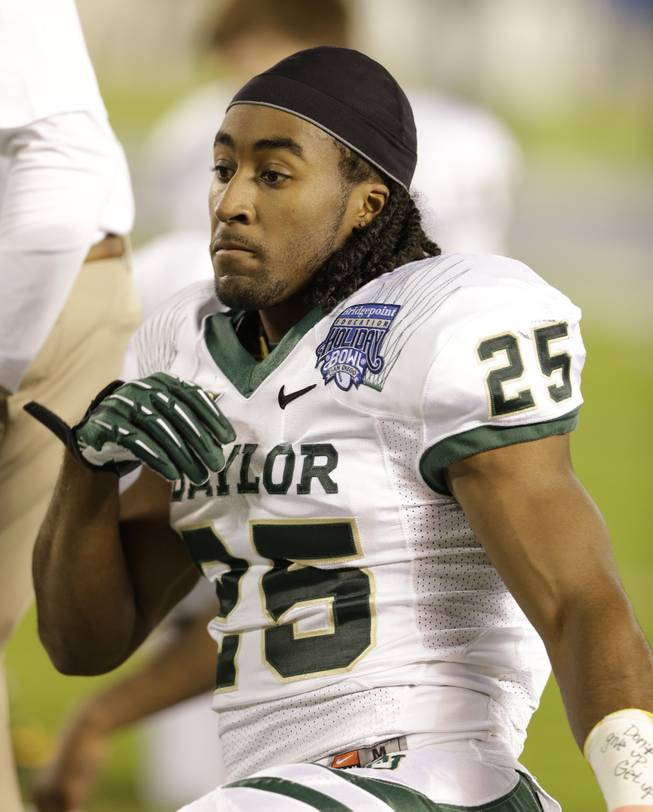 Baylor running back Lache Seastrunk during the first half of the NCAA college football Holiday Bowl game Thursday Dec. 27, 2012 in San Diego.