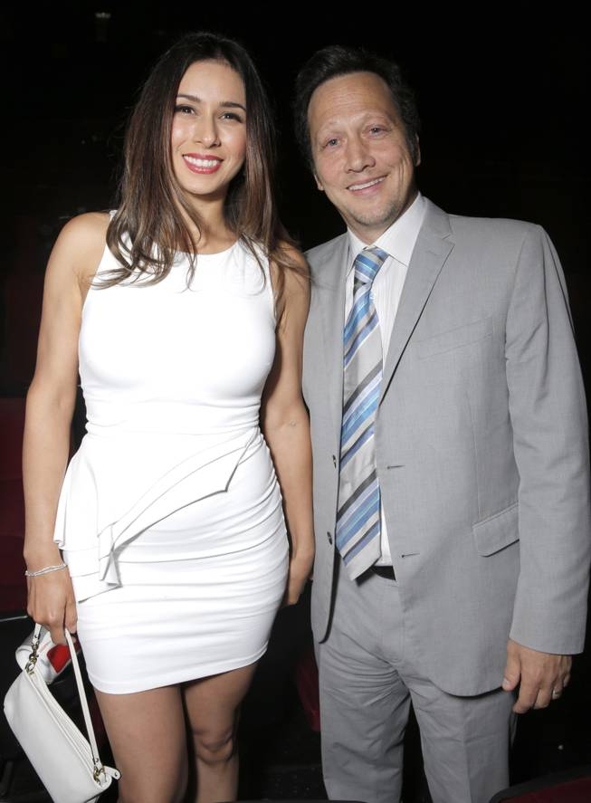 "Patricia Azarcoya Schneider and Rob Schneider attend the after-party for the premiere of Pantelion Films' ""Instructions Not Included"" on Thursday, Aug. 22, 2013, in Los Angeles."