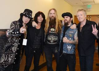 Robert Sarzo, Rudy Sarzo, Zakk Wylde, Blasko and James Kottak attend the 2013 Vegas Rocks! Magazine Awards at the Joint in the Hard Rock Hotel Las Vegas on Sunday, Aug. 25, 2013.