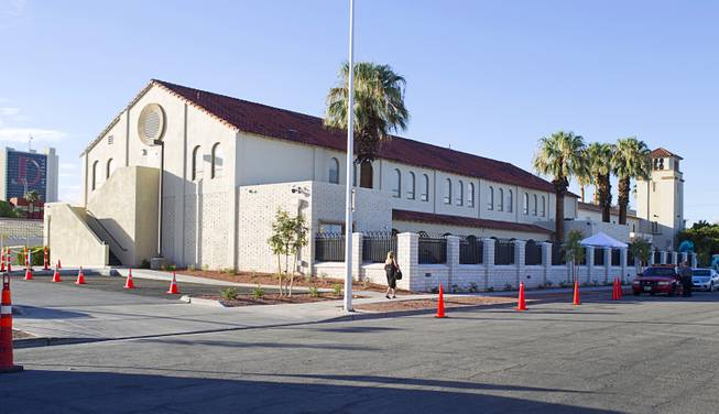 An exterior view of the 9th Bridge School in downtown Las Vegas Tuesday, Aug. 27, 2013. The private school/early childhood learning center, part of the Downtown Project, opened August 26 with infants through kindergarten students and will gradually add grades.