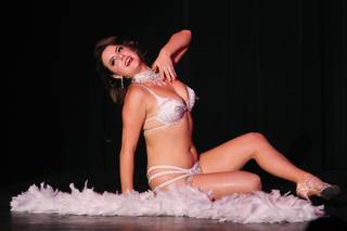 Aya Fontaine performs during a benefit show in honor of burlesque pioneer Dixie Evans Saturday, Aug. 31, 2013 at the Plaza.