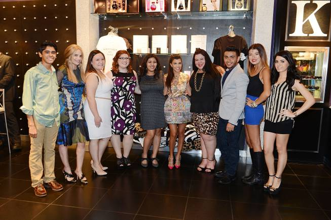 Cici Bussey, second from left, and Kourtney Kardashian, fifth from ...