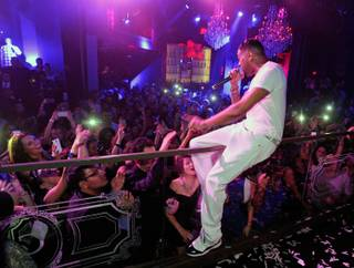 Ginuwine hosts and performs at Chateau Nightclub & Gardens in the Paris on Saturday, Aug. 31, 2013.