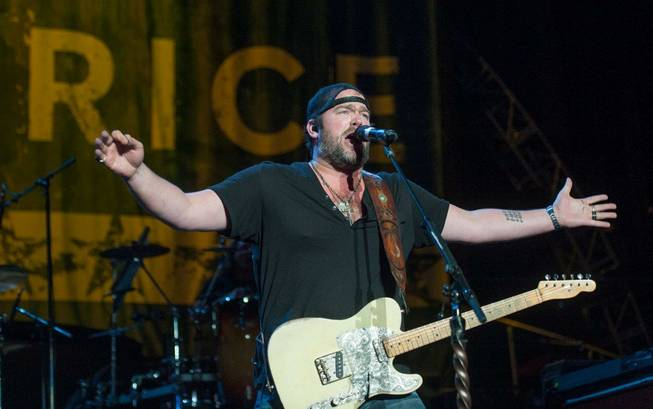 Opening act Lee Brice performs during headliner Brad Paisley's Beat ...