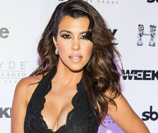 Kourtney Kardashian arrives at Hyde Bellagio on Saturday, Aug. 31, ...