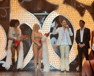 Cheaza, Coco Austin, Josh Strickland and Nick Kenkel after the final performance of