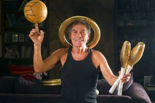 Nino Frediani, 73, poses at his home Tuesday, Sept. 3, 2013. Frediani has performed as a professional juggler in Las Vegas for more than 30 years but few people knew that he is legally blind.