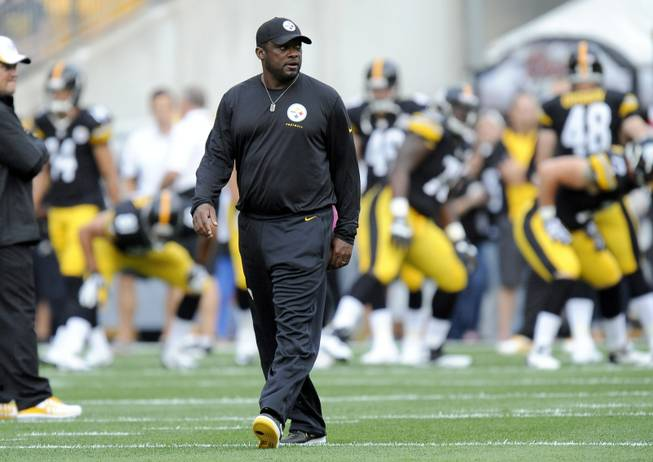 Pittsburgh Steelers head coach Mike Tomlin before an NFL preseason football game against the New York Giants on Saturday, Aug. 10, 2013, in Pittsburgh. New York won 18-13.(AP Photo/)