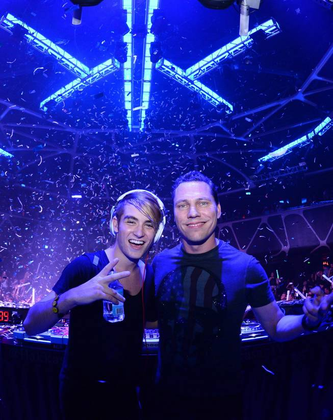 DJ Danny Avila and DJ Tiesto at Hakkasan in MGM Grand on Sunday, Aug. 18, 2013.