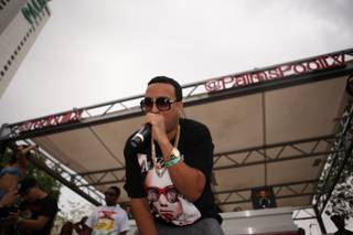 French Montana at Ditch Fridays at Palms Pool on Friday, Sept. 6, 2013.