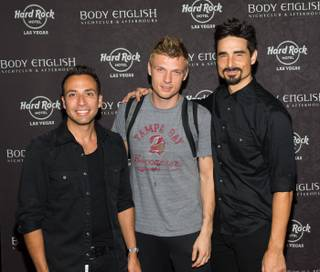 Howie Dorough, Nick Carter and Kevin Richardson of Backstreet Boys host their official concert after-party at Body English in the Hard Rock Hotel early Sunday, Sept. 8, 2013, and Carter also performed a DJ set.