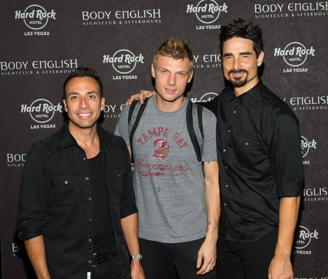 Howie Dorough, Nick Carter and Kevin Richardson of Backstreet Boys ...