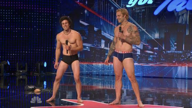 "The KriStef Brothers compete on NBC's ""America's Got Talent."""