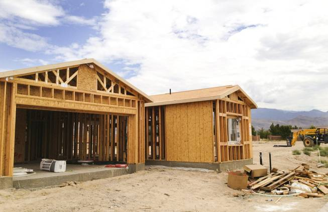 Mountain Falls, a master-planned community in Pahrump, is the only place in town where subdivisions are being built, as seen above on Monday, Sept. 9, 2013.
