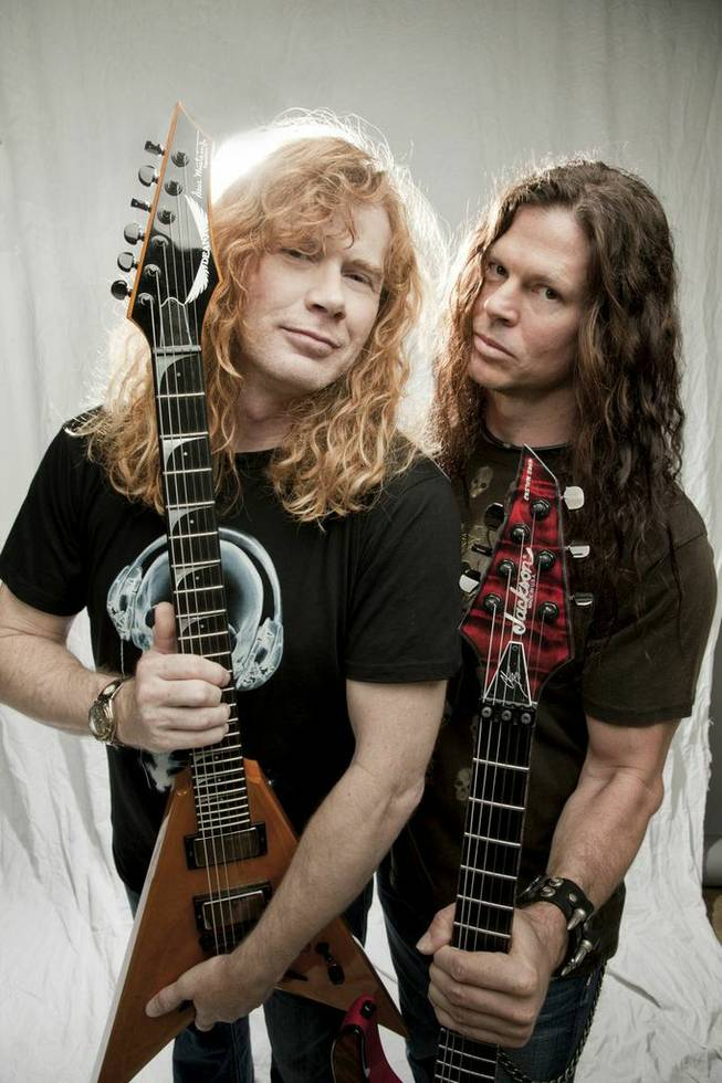 Dave Mustaine and Chris Broderick of Megadeth.