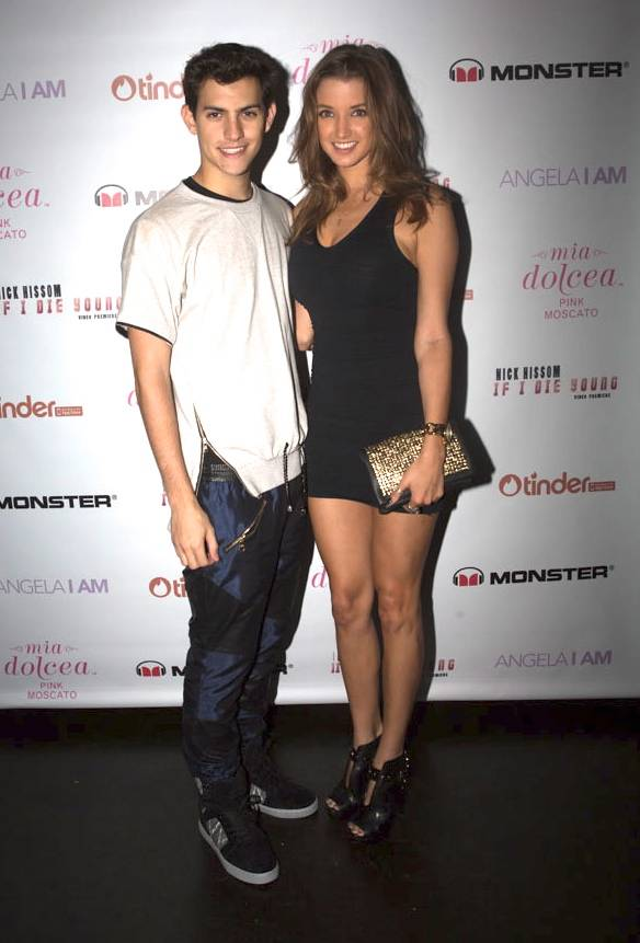 "Nick Hissom and Playboy's Miss July Alyssa Arce at the music video release party for Hissom's single ""If I Die Young"" at the Jazz Room in the General in New York during Fashion Week, Tuesday, Sept. 10, 2013."